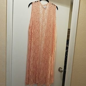 XL Lace Peach LuLaRoe Joy
